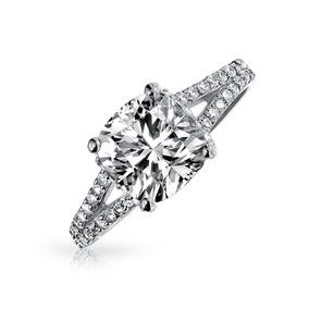e52033f02fe6 Anillo Con Diamante En Corte Cuadrado - Joyería Anillos en Mercado ...