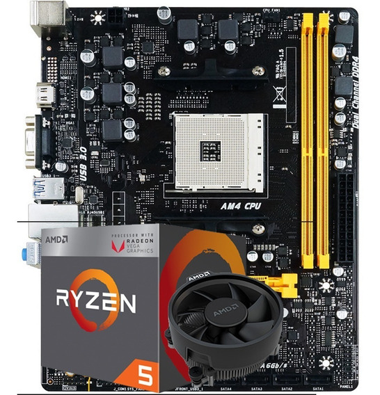 Kit Gamer Amd Biostar A320mh Pro + Ryzen 5 2400g Vega Am4