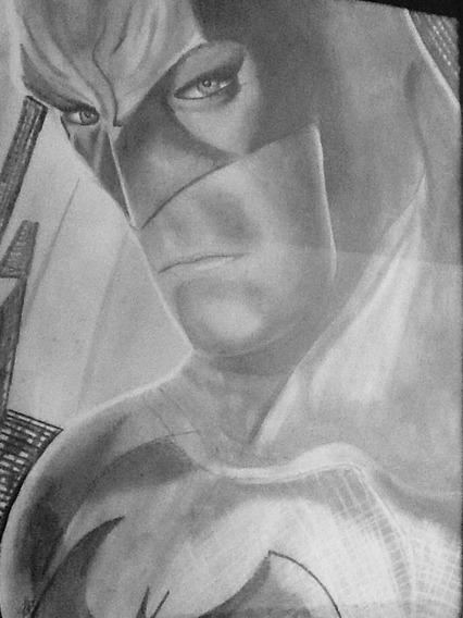 Dibujo De Batman Al Carboncillo
