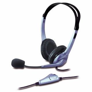 Auricular Genius Con Microfono Hs 04s Azul