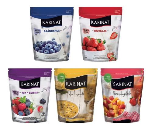 Imagen 1 de 5 de Frutas Congeladas Karinat Mix Pack X 5u - 1 C/u