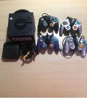 Nintendo Gamecube Chipeada 4 Joysticks 20 Juegos Sin Trafo
