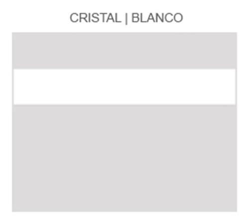 Plástico Bicapa Laserable Econoply Cristal / Blanco 60x40cm