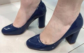 dec12173be Scarpin Salto Grosso Bico Redondo - Sapatos no Mercado Livre Brasil