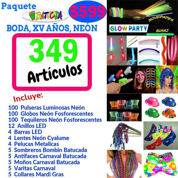 Paquete Batucada Shots $599 Boda Neon Fiesta Xv Envio Gratis