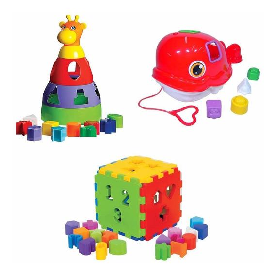 Kit 03 Brinquedos Didáticos