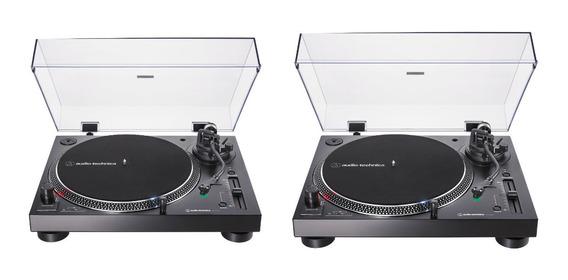 Par Toca Disco Audio Technica At Lp120 X Usb At Lp120x Preto