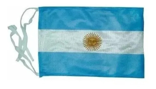 Bandera Argentina Nautica C/ Sol 20x30cm