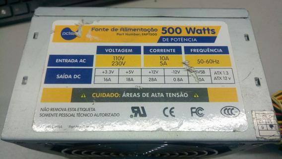 Fonte Atx 24 Pinos + Sata Pc Top Fapt500 Pci-e