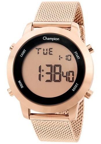 Relógio Champion Feminino Digital Rosé Ch40062x