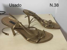 25a5b609c Sandalia Da Prego Dourada - Calçados, Roupas e Bolsas no Mercado ...