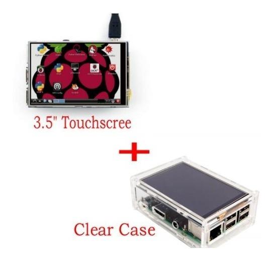 Kit Case E Tela Lcd Tft 3.5 Touch Raspberry Pi3