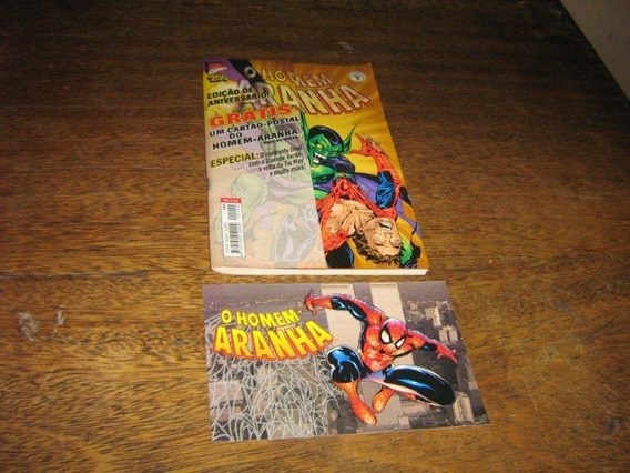 Homem Aranha Nº 200 Edição Aniversario Com Cartão Postal