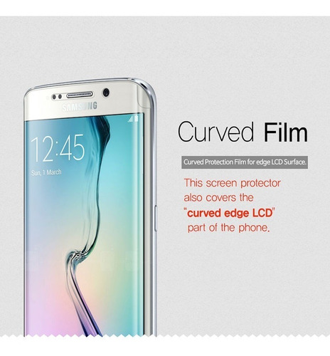 Screen Protector Galaxy S6 Edge 2front+1 Back