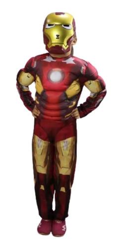 Imagen 1 de 4 de Disfraz Ironman Musculoso Calidad Premium Avenger Vengadores