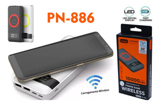 Carregador Power Bank Wireless S/ Fio 10.000mah Pineng Pn886