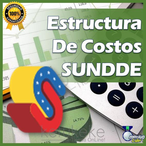 Estructura De Costos Sundde 2019 Plantilla Excel Digital