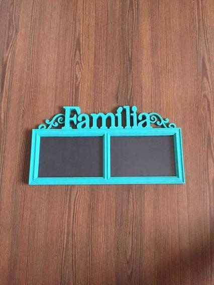 Porta-retrato Azul Família