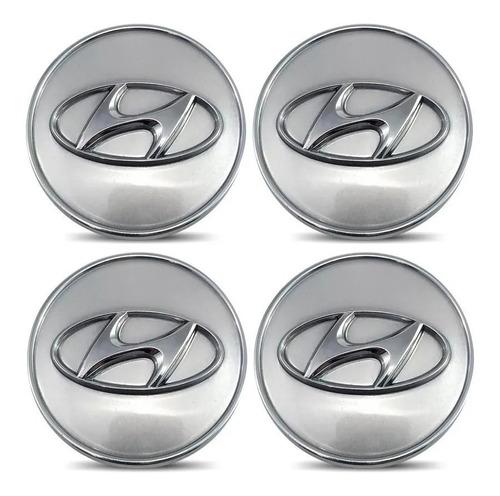 Imagem 1 de 4 de Kit 4 Calota Miolo Centro Roda Hyundai Elantra Sonata Azera