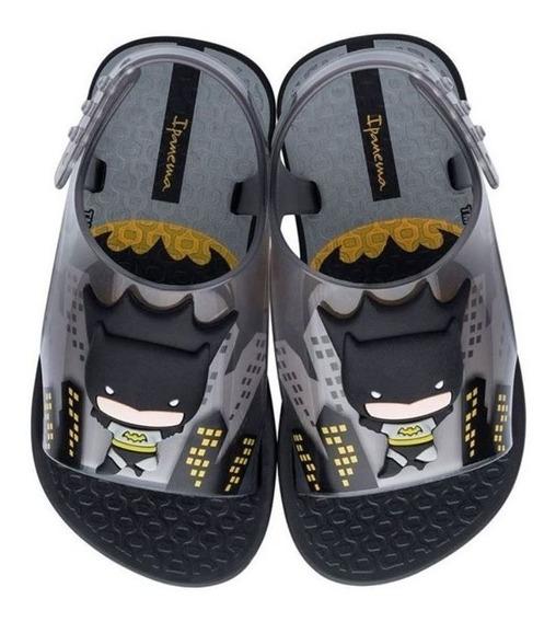 Sandália Infantil Liga Da Justiça Batman Preto Ipanema P C+