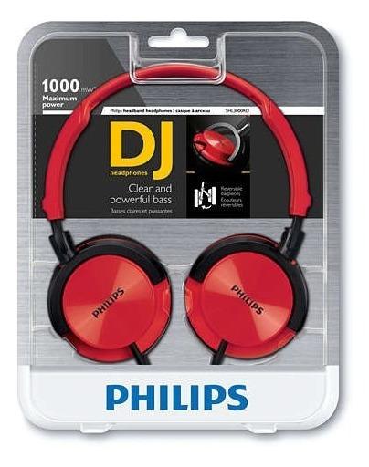 Audífonos Dj Vj Philips Shl3000rd Auriculares Profesionales
