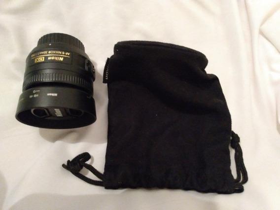 Lente 35.1.8 Nikon Com Parasol Usada