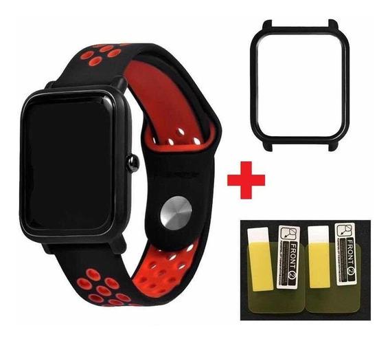 Pulseira Amazfit Bip Modelo Nike + Película Protetora + Case