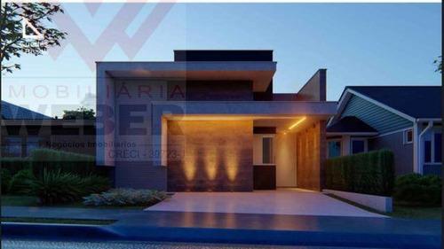 Casa C/03 Dormitórios  No Condomínio Horto Villagio - R$ 447.000,00 - 1702