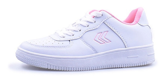 Zapatillas Colegial Atomik Cambridge Cordon Blanco Rosa