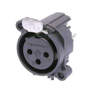 Neutrik Nc3fav2 Ficha Conector Xlr Canon Hembra Chasis 3 Pin