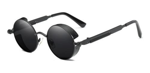 Gafas De Sol Casual Steampunk Redondas Unisex