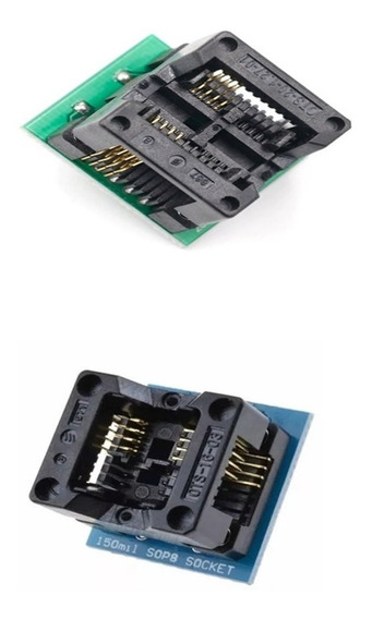 Kit Adaptadores Soic8 Sop8 Para Dip8 Eprom 150mil E 200mil