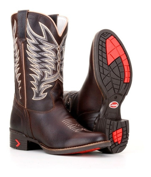 Bota Cano Médio Texana Country Masculina Couro 4c6586caf