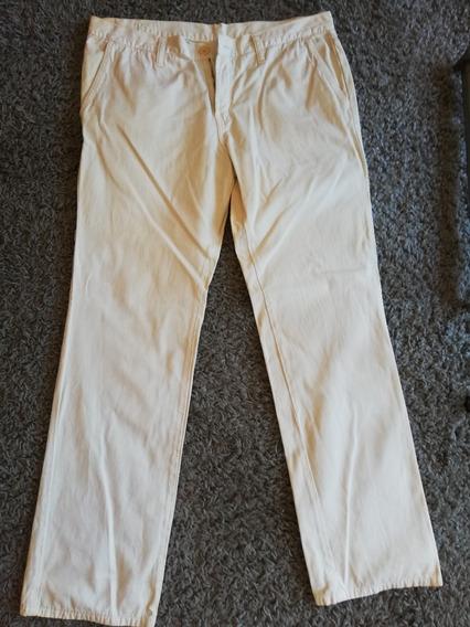 Pantalon Gabardina Etiqueta Negra Hombre Talle L