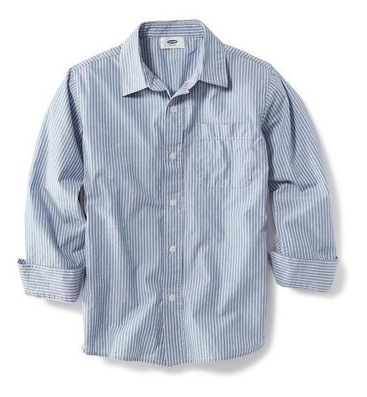 Camisa Estilo #118306-00-1 Rayas Color Azul/blanco Old Navy