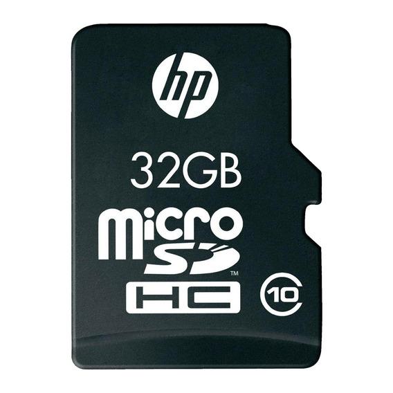 Cartao De Memoria Microsd Hp 32gb Classe 10 + Adaptador