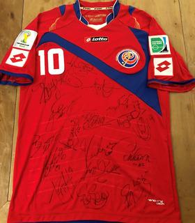 Camisa Costa Rica Copa Do Mundo 2014 Autografada Todos