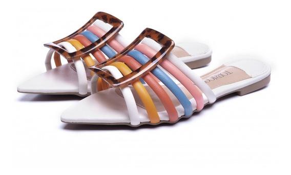 Sandalia Rasteira Feminina Colors