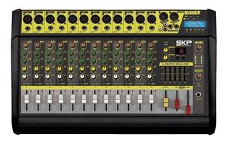 Consola Potenciada Skp Vz-120ll 12ch 2000w Bluetooth Oferta!