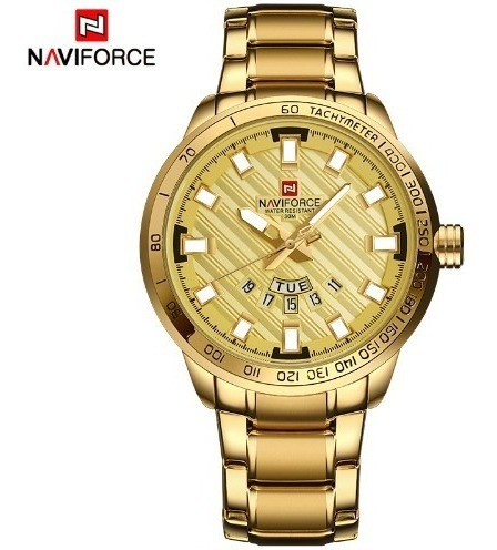 Relógio Masculino Dourado Militar