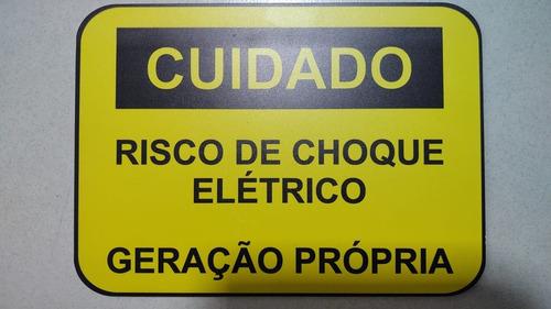 Placas De Aviso / Energia Solar