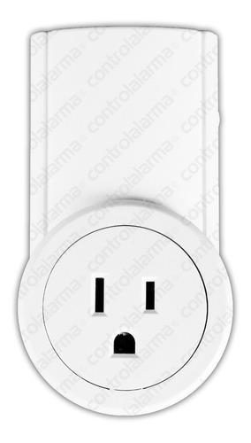 Imagen 1 de 3 de Contacto Inteligente 433 Mhz Enchufe Inalambrico Casa Alarma
