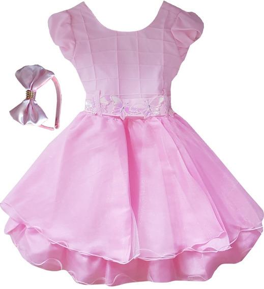 Vestido Infantil Natal Casamento Formatura Festa Luxo Oferta