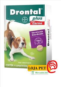 Drontal Plus Sabor Carne 10kg 4 Comprimidos