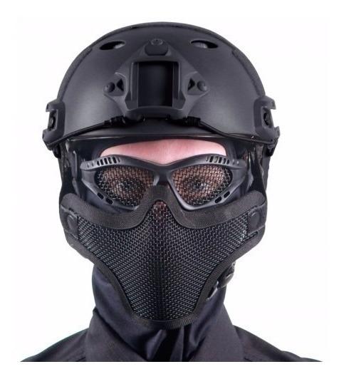 (promoção Combate) Caixa Com 10 Óculos E 10 Máscaras De Tela