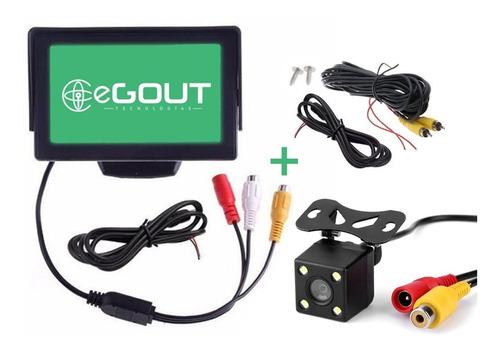 Monitor 4.3 Pulgadas + Cámara Retroceso Auto