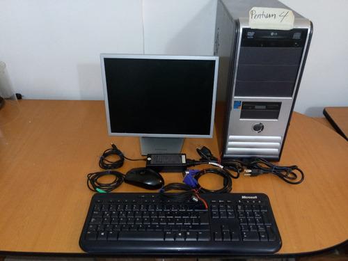 Imagen 1 de 1 de Computadora Pc Pentium 4 Con Monitor, Teclado Y Mouse