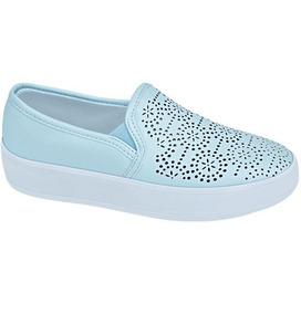 Sneakers Arte Estudiante Mujer Azul Pastel Increibles 186429