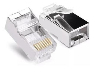 Paquete 100 Piezas Plug Conector Rj45 Cable Red Utwi.08.0.6m