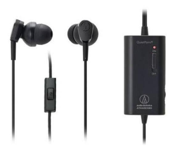 Fone De Ouvido Audio-technica Ath-anc33is C/canc. De Ruído